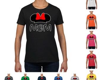 Minnie Mom, Women's Round Neck Fashion T-Shirt