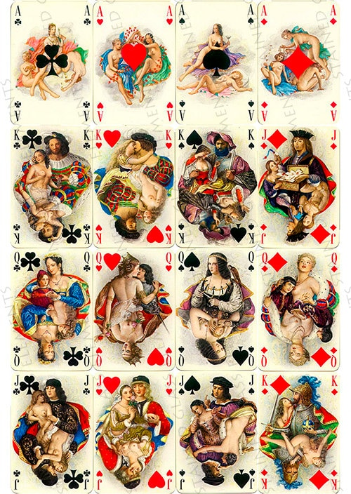 Playing Cards Ceramic Decals Erotic Decals Fusible