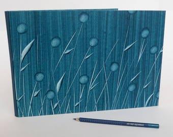 carnet de dessin aquarelle bleu