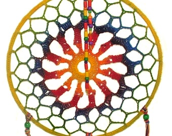 Dreamcatcher Boho Hippy Rainbow Dream Catcher Medium Size Dreamcatcher Mandala
