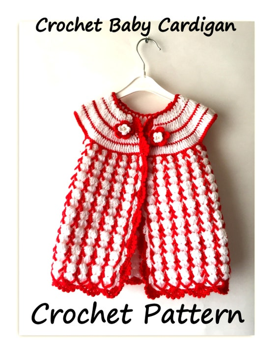 Crochet Baby Spring Dress Free Pattern, Crochet Cardigan Outfit For ...
