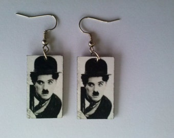 Charlie Chaplin Earrings