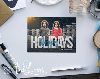 Holiday Photo card - Christmas photo card - holiday card - photo card - photo christmas card - happy holidays- holiday photo cards