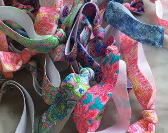 4 Lilly Pulitzer Hair Ties- 50 Patterns