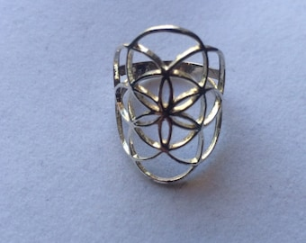 Sacred Geometry, Sterling Silver Seed of Life Ring