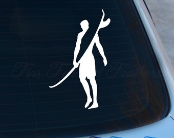Surfer Decal - Surfing sticker - Surf - Laptop - Macbook - Car Decal