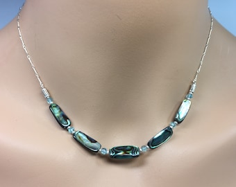 Abalone Necklace in Sterling Silver