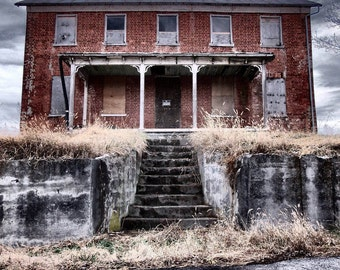 Old Hose Photography, Abandoned House Photography, Abandoned House, Abandoned House Pohotgraph, Abandoned House Print, Old House Print