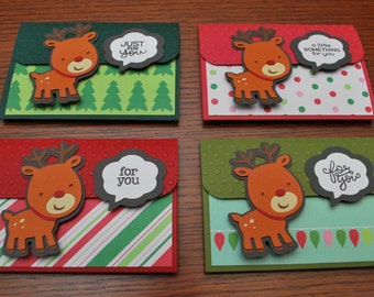 Christmas Gift Card Holders - Pop-up Gift Card Holders - Reindeer Holiday Gift Card Holders