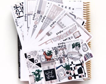 Home DELUXE Weekly Kit (stickers for Erin Condren Life Planner - Vertical)