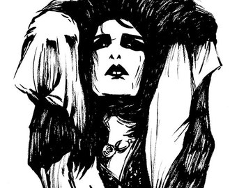 Siouxsie Sioux - original ink drawing