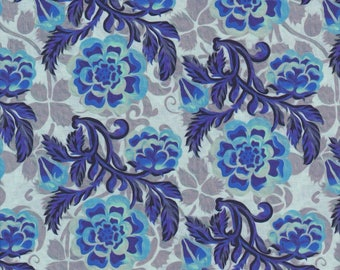 Pastiche, In the Beginning Fabrics, Jason Yenter, Blue Peony Print