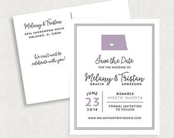 State Save the Date Postcards, State Save the Date Postcards without Photo, Any State Save the Date Postcards, Travel Save the Date Postcard