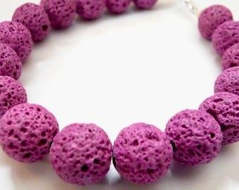 Scented  Bracelet, Lavender Bracelet, Lava Rocks Bracelet, Purple Bracelet, String Bracelet, Beaded Bracelet