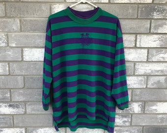 90s hip hop striped long sleeve top