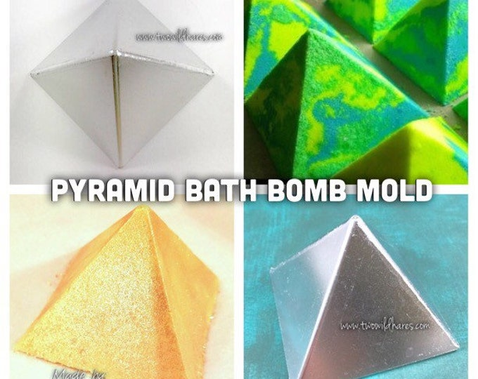 "PYRAMID Bath Bomb Mold, Metal, 2.75""x2.5"""