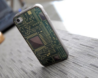 iPhone 8 Case, Phone case, Computer Chip Custom iPhone Silicone Case - unique iphone cases, back to school, tech lover, geekery