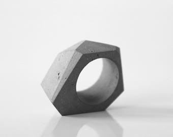 Concrete ring, minimalist ring, modern ring, concrete jewelry, architectural rings, gift for her and architect, handmade product, Architect
