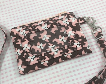 Frenchy Dogs Wallet, ID Wallet, ID wallet with Lanyard, Wallet, Coin Purse, Coin Purse With Lanyard, ID Coin Purse