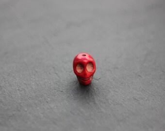 Red Skull bead