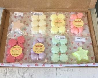 Wax melt selection box, choose eight fragrances, highly scented, wax melt, natural wax melts, handmade wax melts