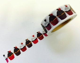 Happy Birthday Chocolate Vanilla Cupcake Paper Washi Tape Scrapbooking Decorate Sticker (1898)