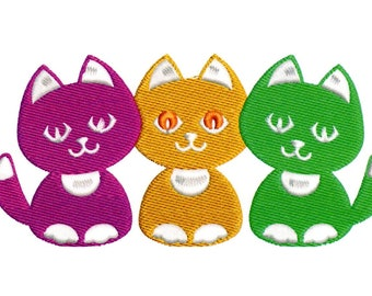 Embroidery Designs Three Cute Kittens Cute Kittens