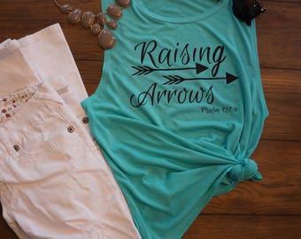 Raising Arrows - Women flowy muscle tank