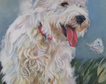 "West Highland Terrier westie DOG PORTRAIT art canvas PRINT of LAShepard painting 8x10"""