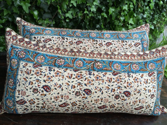 Set of traditional lumbar pillow cover|floral design 15x30|floral lumbar pillow|gift for new home|cotton fabric|wedding gift|gift for her