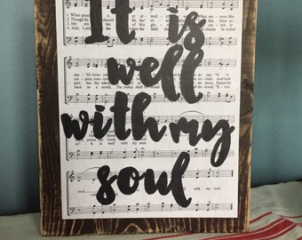 It is well with my soul hymn sign