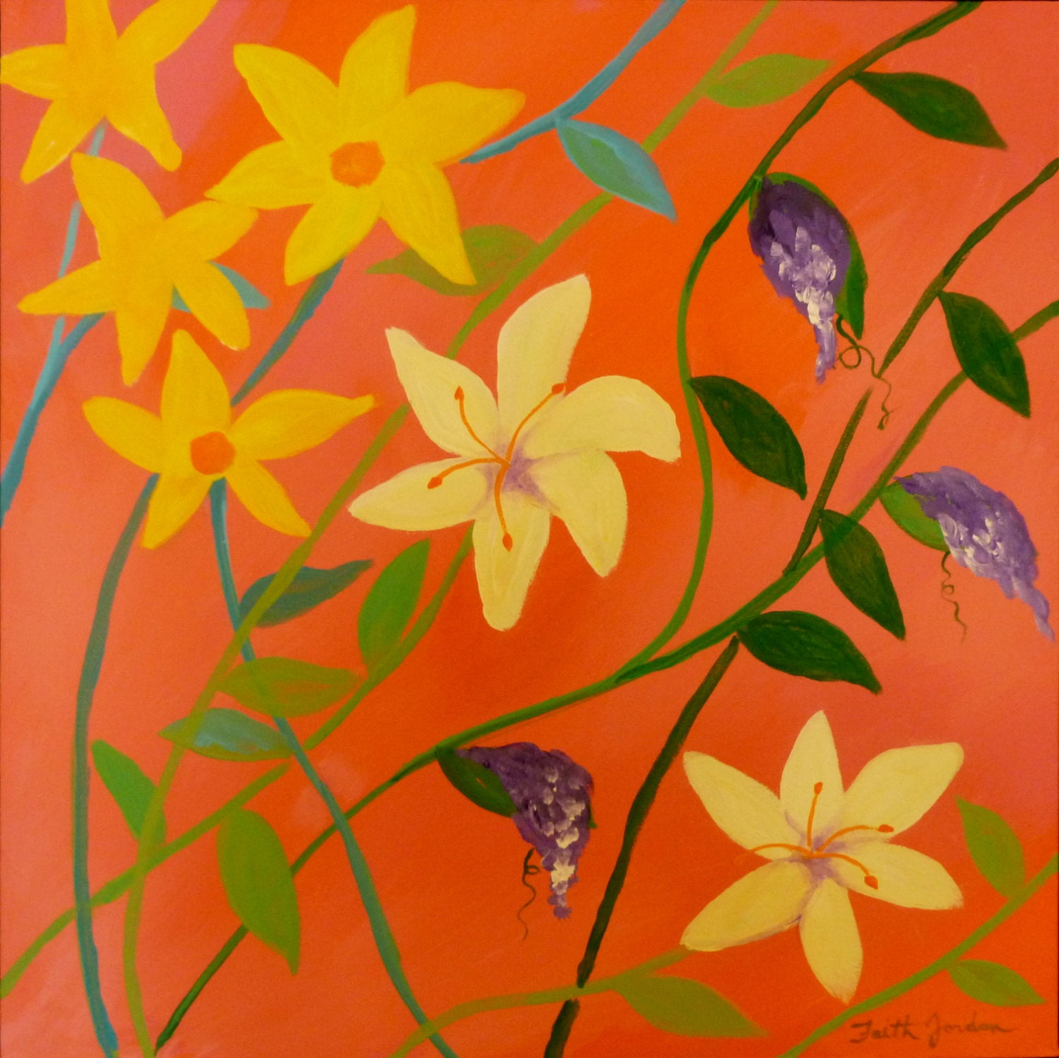 zoom - Flower Garden Paintings