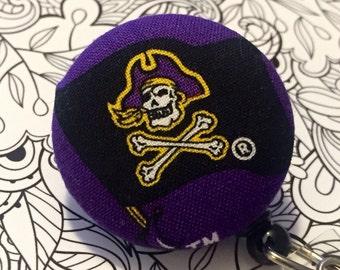 ECU East Carolina University PIRATE  Retractable ID Badge Reel