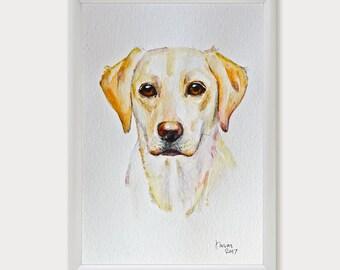 Custom Pet Portrait, Personalized Pet Art Commission, Dog Portrait, Pet Memorial, Watercolor Original Painting, Pet Loss Gifts, Dog Lover