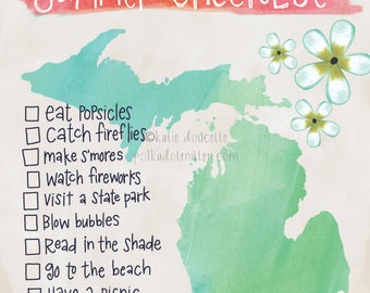 Michigan Summer Checklist