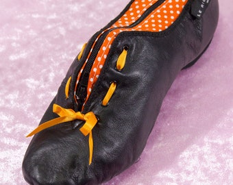 Black purse made in a true jazz dance shoe