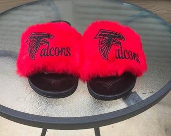 Atlanta Falcons Feaux Fur Slides
