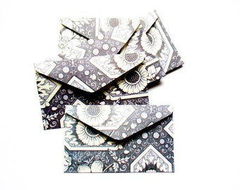5 mini envelope flowers paper