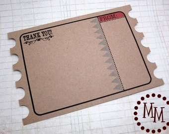 Train Ticket PRINTABLE Thank You Cards