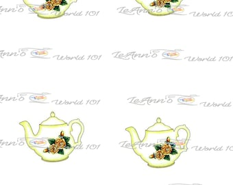 Rose Teapot printable