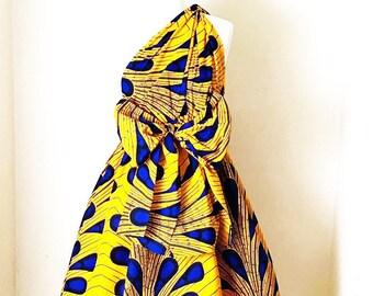 Asantewaa Wrap Dress (Ankara) Wrap Dress