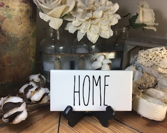 Rae Dunn Inspired HOME Sign Farmhouse Style Home Decor Rae Dunn Sign Farmhouse Sign Fixer Upper Decor Farm Decor Shabby Chic