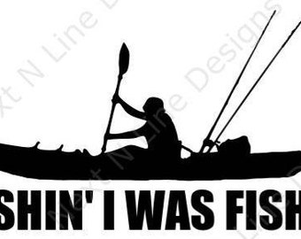 Fishing Kayak Fisherman Rockfish Striped Bass Window Sticker Car