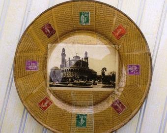 Decoupage plate: Paris Trocadero