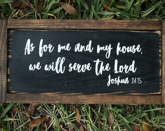 As for me and my house - Reclaimed Wood Sign, Joshua 25:15