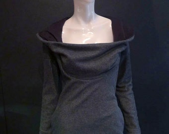 SALE! Cowl Neck Hoodie Perfect for Nursing Breastfeeding Mothers (and all others)