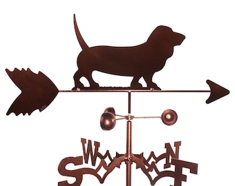 Hand Made Basset Hound Dog Weathervane NEW