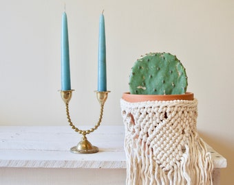 Brass Candle Holder || Vintage Two-Candle Candlestick