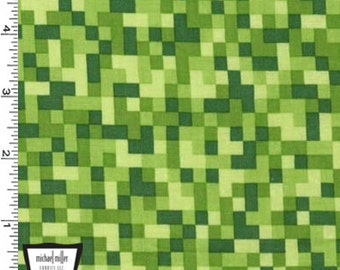 Bitmap Fabric - Green - By Michael Miller Fabrics (Sold by the half yard)