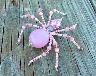 Zarek beaded spider halloween christmas black red and gold hannah beaded spider halloween christmas pink and clear glass goth sun catcher halloween decoration mightylinksfo